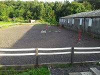 Outdoor arena at Edinburgh & Lasswade Riding Centre