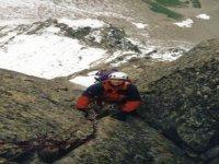 A snowy climb