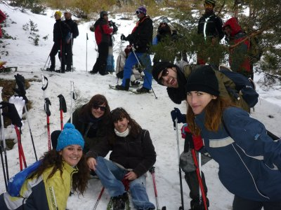 Snowshoeing at Night + Dinner in Navacerrada