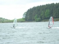 Windsurfing duo