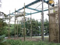 40 foot high ropes course