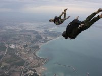 Skydive over the sea