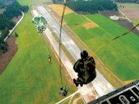 Static line parachute jump