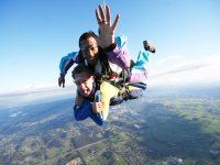 Tandem Skydive over fields and lakes