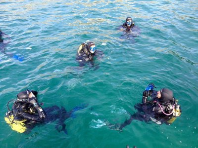 Scuba Diving Baptism in Isla Mouro.
