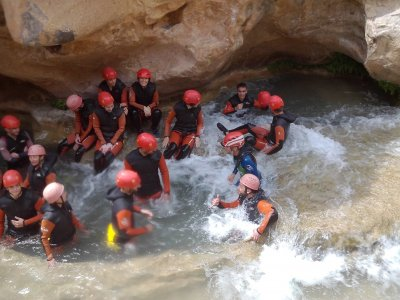 4 hours canyoning in the Cabriel river, Albacete