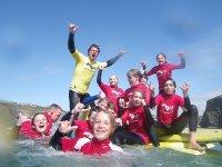 Surf lesson in mawgan porth Newquay cornwall