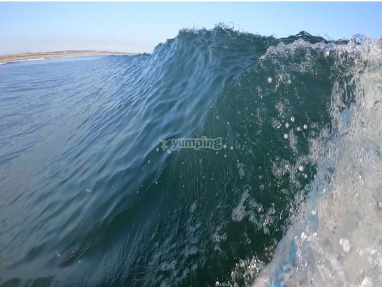 The waves at Amble