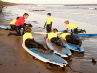 Surfing on various beaches in Northumberland