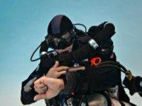 Underwater diving.