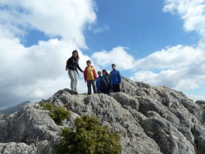 Hiking route on La Maroma mountain, 2065 metres