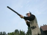 Clay pigeon shooting practice