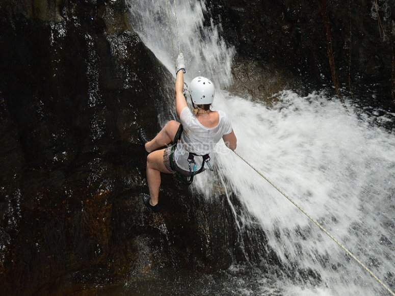 Canyoning with David Hendrickse.