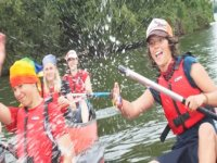 Splashing around in a canoe