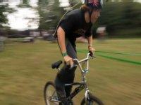 BMX riding