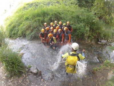 Canyoning initiation in Sima del Diablo
