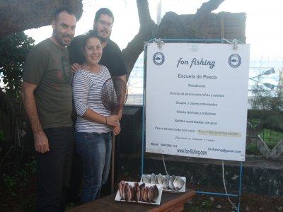 Fishing lesson on the Ribadesella coast