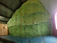 One of our climbing walls