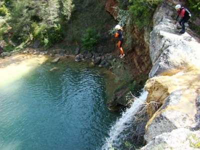 Initiation Canyoning Level I, in Barcelona.