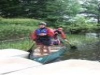 Canoing in the wilderness