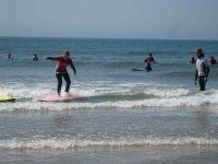 Having Her Surfing Lessons