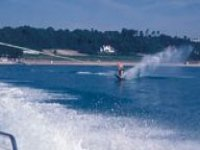 An experienced water skier