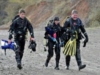 Scuba diving in Cromhall Quarry