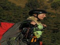 Alex ready for takeoff in Nepal