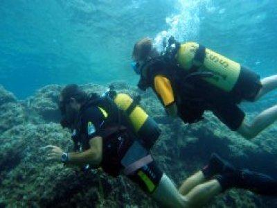 Diving baptism in Cabo de Palos