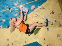 Climbing on one of our walls
