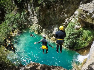 Canyoning in Verde river, lower tier