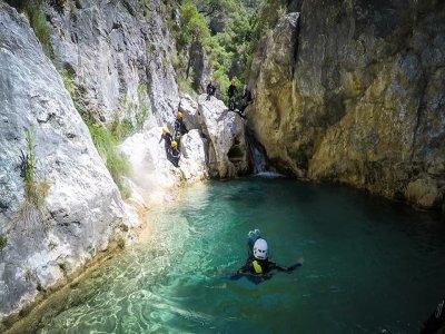 Canyoning in the Sima del Diablo, Ronda
