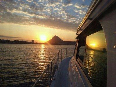 Sunset in a boat, Jávea
