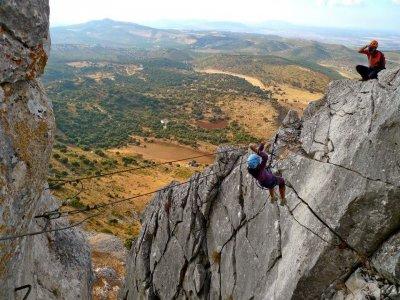 Via ferrata in Antequera, high difficulty