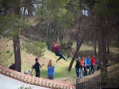 Climbing, Abseiling, Zip lining & Co-games