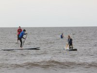 A stand up paddleboard lesson