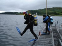 Diving in Oban, Scotland