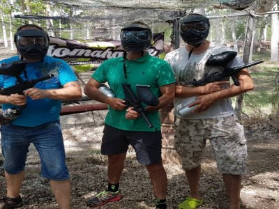 Paintball Match with 150 Balls in Huerta
