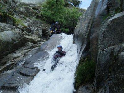 Canyoning in Papuos, Jerte, Level II