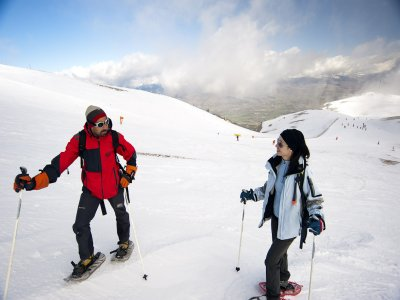Snowshoeing route-initiation La Molina