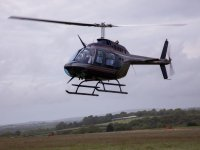 Our helicopter on its way