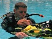 A rescue diver