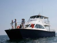 The spacious foredeck
