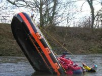 An almost capsized boat