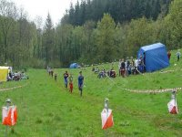 The finish at a British orienteering competition