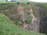 You will be abseiling under constant supervision