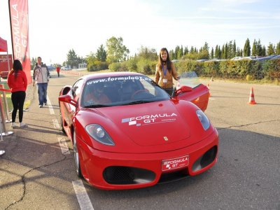 Driving a Ferrari F430 F1 in Kotarr, 2 laps