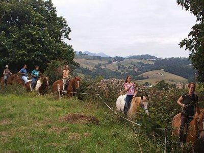 Riding a horse in Arriondas, Asturias, 1h