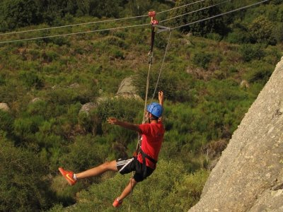 Zip line + rappel in Huerta half a day