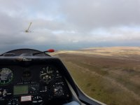 The view as a pilot with Bidford Gliding!